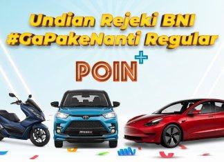 BNI Poin+ hadiah mobil listrik