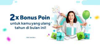 Getplus bonus 2x poin ulang tahun