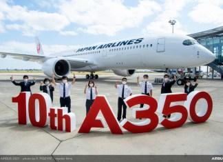 Japan Airlines A350 ke-10