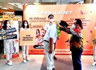 Super Air Jet Peresmian di Bandar Udara Internasional Hang Nadim, Batam.