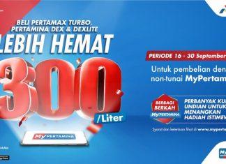 MyPertamina hemat 300 rupiah per liter 16 September 2021