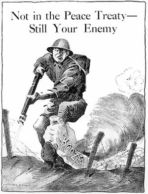 Another United Committee on War Temperance image equating alcohol with the German enemy