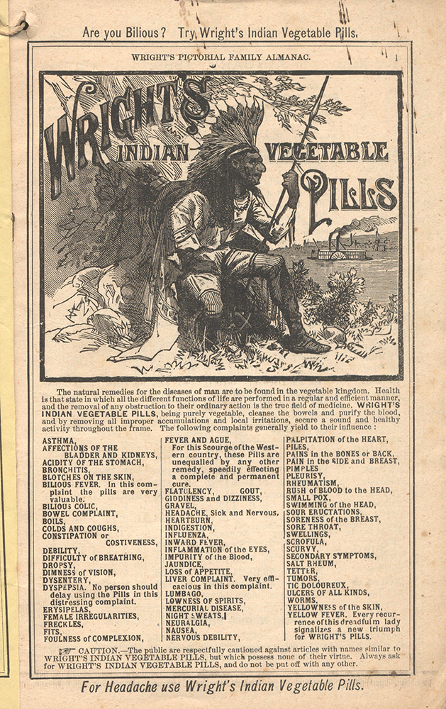 1889 Wright Vegetable PIlls ad