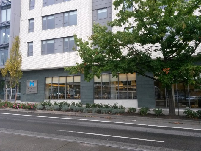 Hyatt House Portland Review - from trolley stop