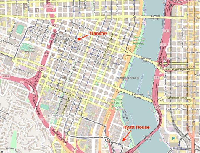 Hyatt House Portland review - transit