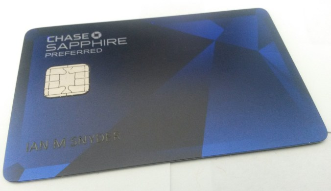 Getting your first credit card chase sapphire preferred