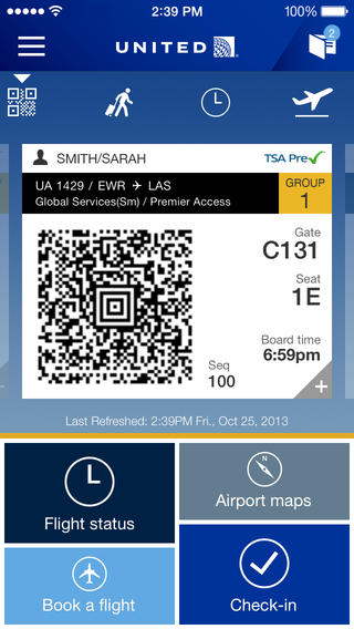 United Launches New Iphone App For Ios 7 Devices Points