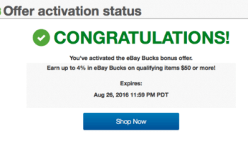 Sweet Deals On Gift Cards With 4 Ebay Bucks Promotion Targeted