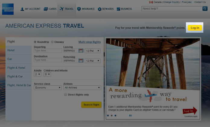 amex-travel-login