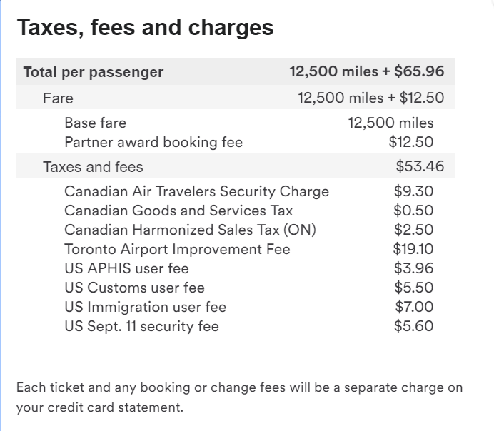 AA YYZ-JFK Close In Tax