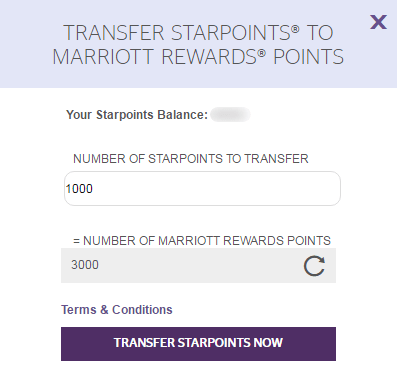 SPG to Marriott Transfer