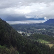 Above Girdwood and the Turnagain Sound in the distance