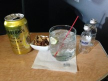 Vodka Tonic and warm mixed nuts