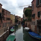 A canal in the Cannaregio neighborhood of Venice