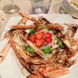 Shrimp Scampi at Osteria da Rioba
