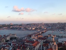 Blue Mosque Hagia Sofia from Galata Tower Istanbul