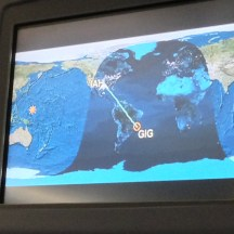 Our ten hours flight to Rio