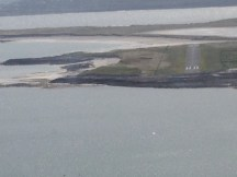 Final approach into Inishmore