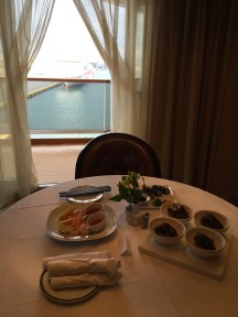 Pinnacle Grill and Tamarind appetizers in our suite