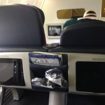 View from seat 2C in Aer Lingus Business Class on the B757-200