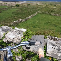 Riding bikes across Inishmore