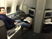 Seats 1A and 1K in Global First Class on the United B747-400