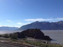 Turnagain Arm looking at the Kenai Peninsula