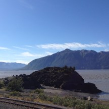 Turnagain Arm looking at the Kenai Peninsula