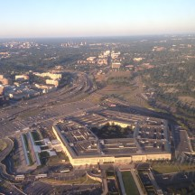 The Pentagon upon takeoff from DCA