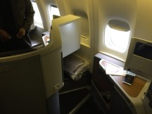 Seat 13J on the American B777-300ER