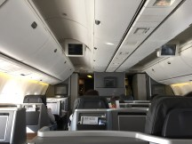 Overview of the cabin from seat 6D