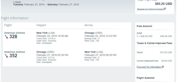 Flight Deal LGA-ORD
