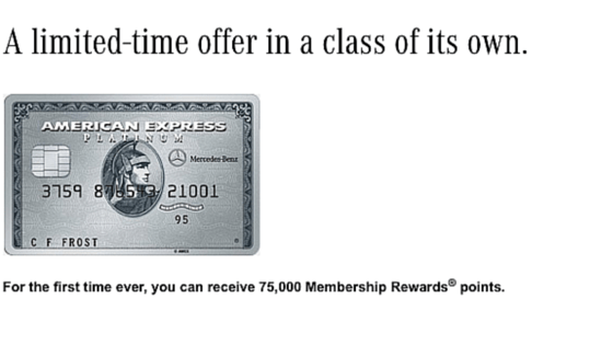 mercedes benz amex platinum card