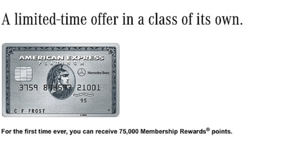 Mercedes Benz Amex Platinum Card