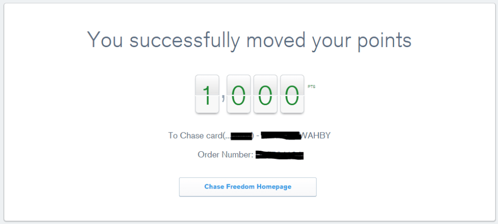 transfer chase ultimate rewards points between accounts