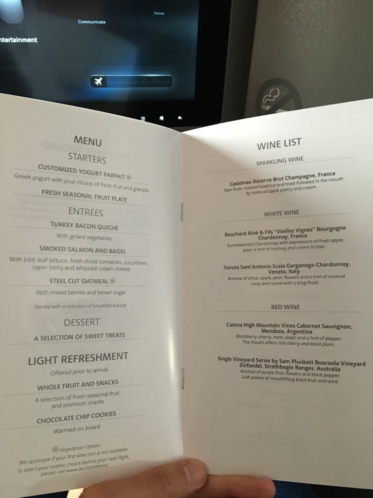 american airlines transcontinental first class