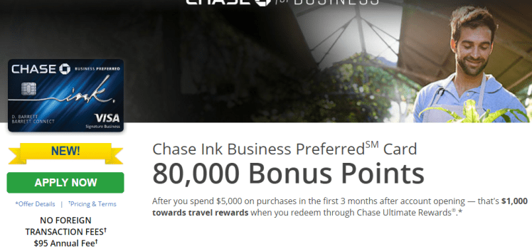 chase ink business preferred card