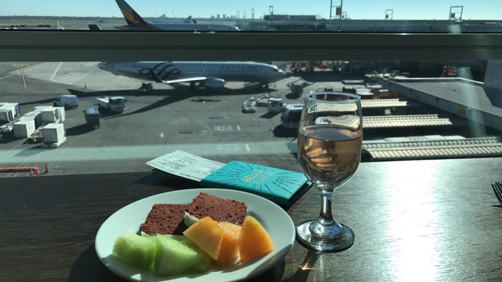 swiss air business lounge review