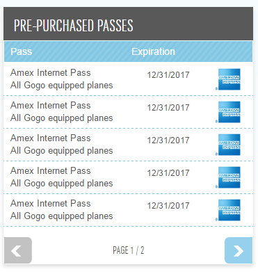 amex business platinum free gogo wifi passes