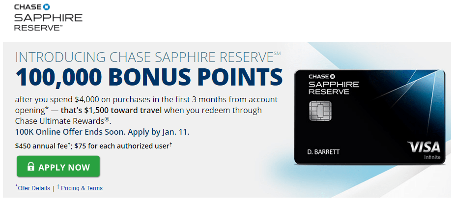 chase sapphire reserve sign-up bonus changes