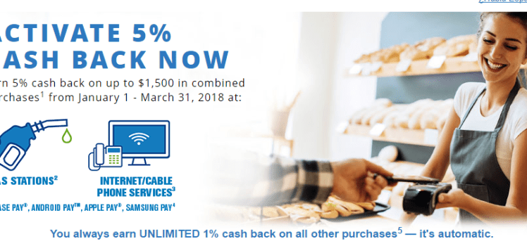 Chase Freedom 5X Cash Back at Gas Stations