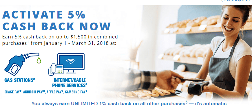 Chase Freedom5X Cash Backat Gas Stations