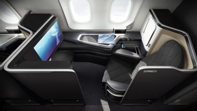 British Airways First Class on a Boeing 787