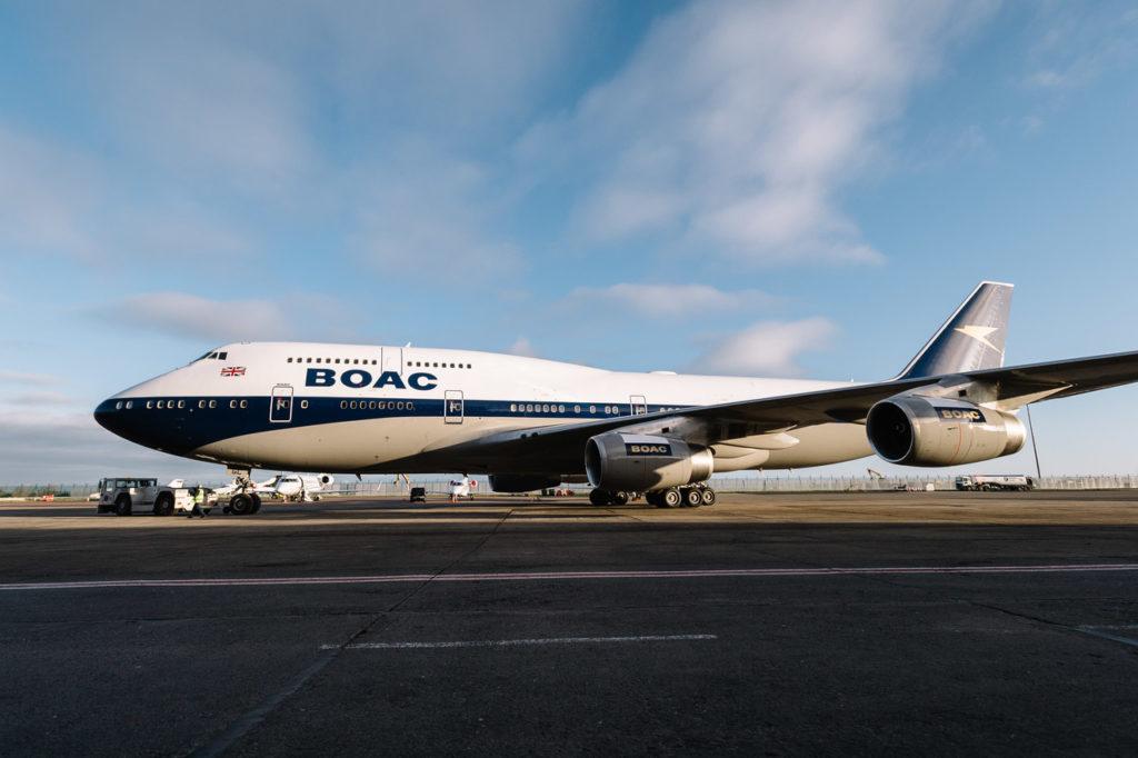 British Airways - BOAC livery Boeing 747, G-BYGC