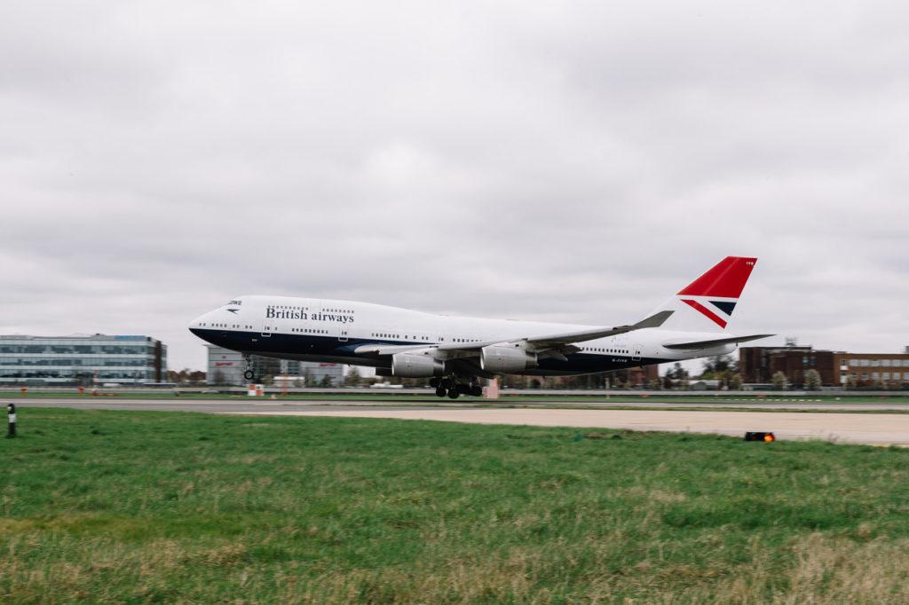 British Airways G-CIVB Boeing 747 with Negus Retro Livery
