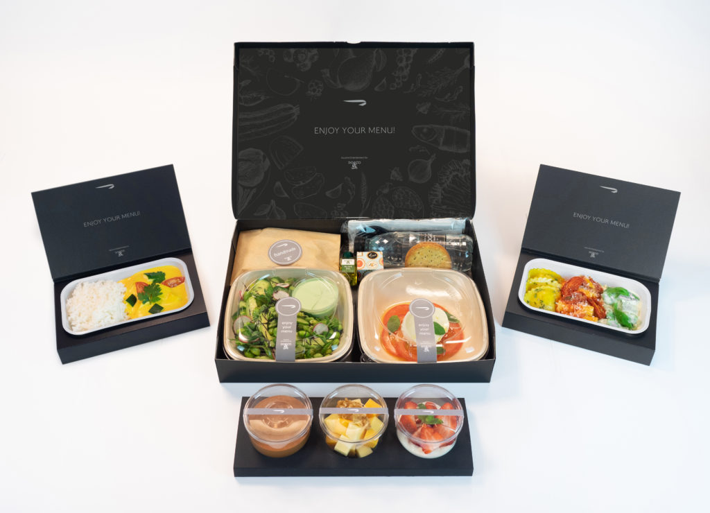 British Airways First Class meal box