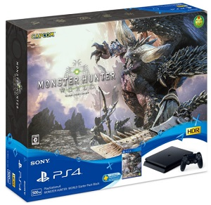 PS4 PlayStation4 MONSTER HUNTER: WORLD Starter Pack Black