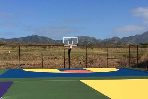 2 half court Basketball hoops