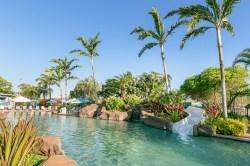 Resort style pool & slide