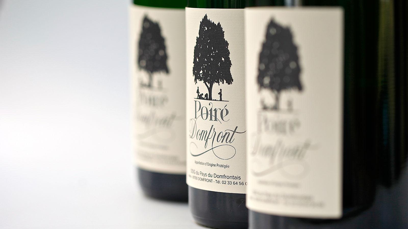 Zoom bouteilles de Poiré Domfront
